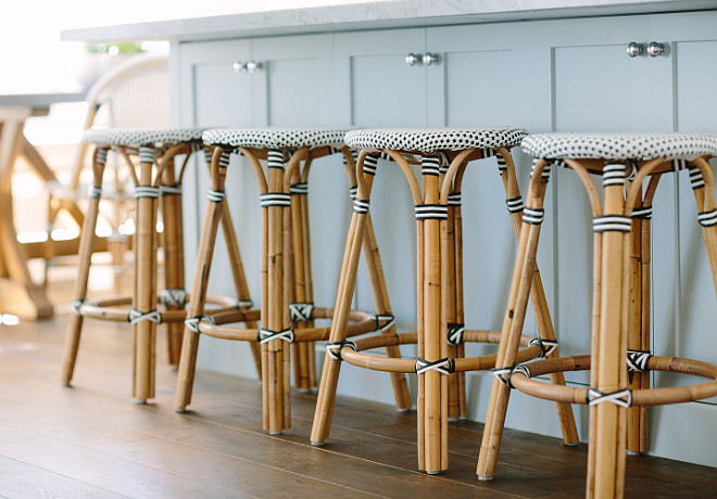 Serena & Lily Riviera Backless Stools. Backless French bistro stools, Serena & Lily Riviera Backless Stools. #SerenaandLily #RivieraBacklessStools. Rita Chan Interiors.