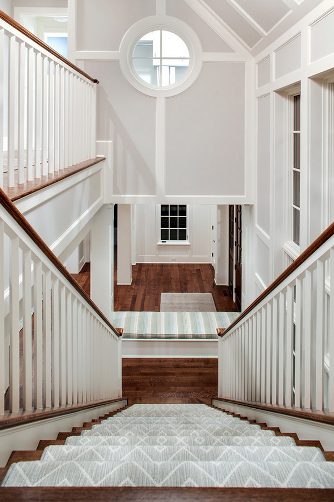 Staircase. Coastal Home Staircase. Coastal Home Staircase Ideas. Coastal Home Staircase Design. Coastal Home Staircase Runner. #CoastalHome #Staircase John Kraemer & Sons.