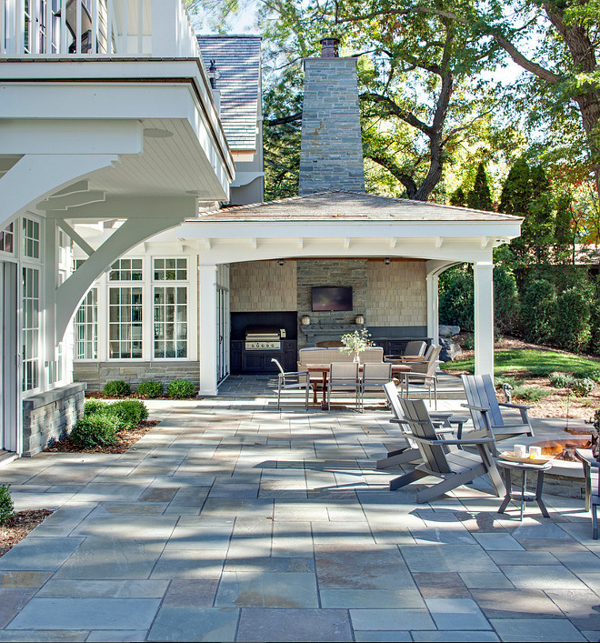 Stone Patio. Stone Patio Ideas. Gray Stone Patio. The gray stone patio is bluestone. #Stone #Patio #Graystone #Bluestone