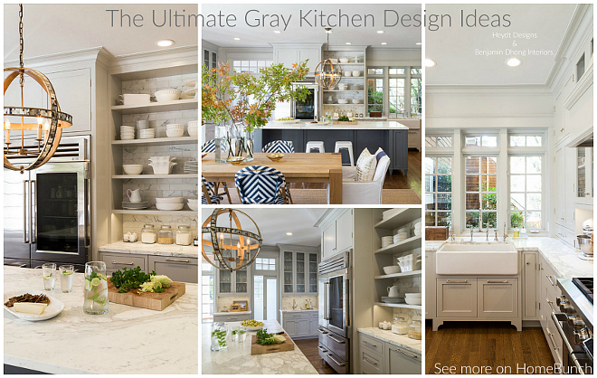 The ultimate gray kitchen design ideas home bunch for Ultimate kitchen design