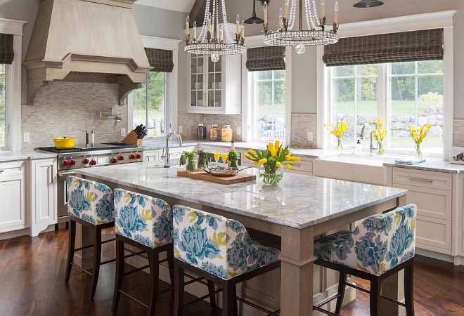 Vanilla Ice Granite. White Granite Countertop. Vanilla Ice Granite. White and gray Granite. #VanillaIceGranite #Granite #WhiteGranite #Countertop.Martha O'Hara Interiors.