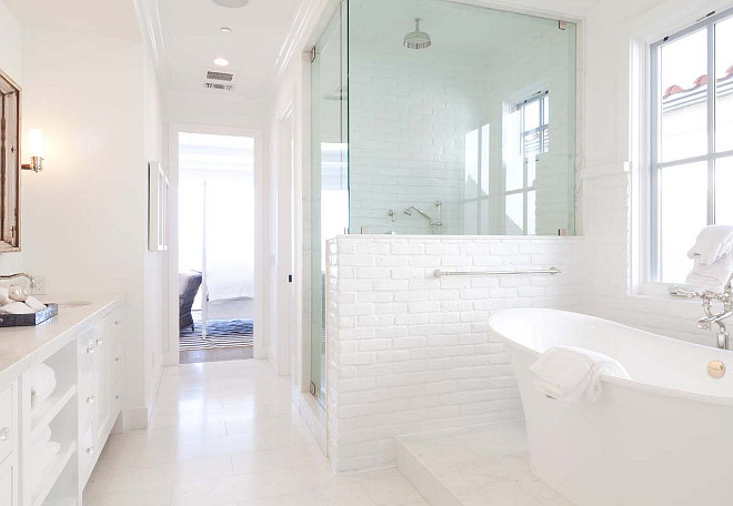 White Bathroom. White Bathroom Ideas. White Bathroom Tiling. White Bathroom Flooring. White Bathroom Wall Tiling. #WhiteBathroom