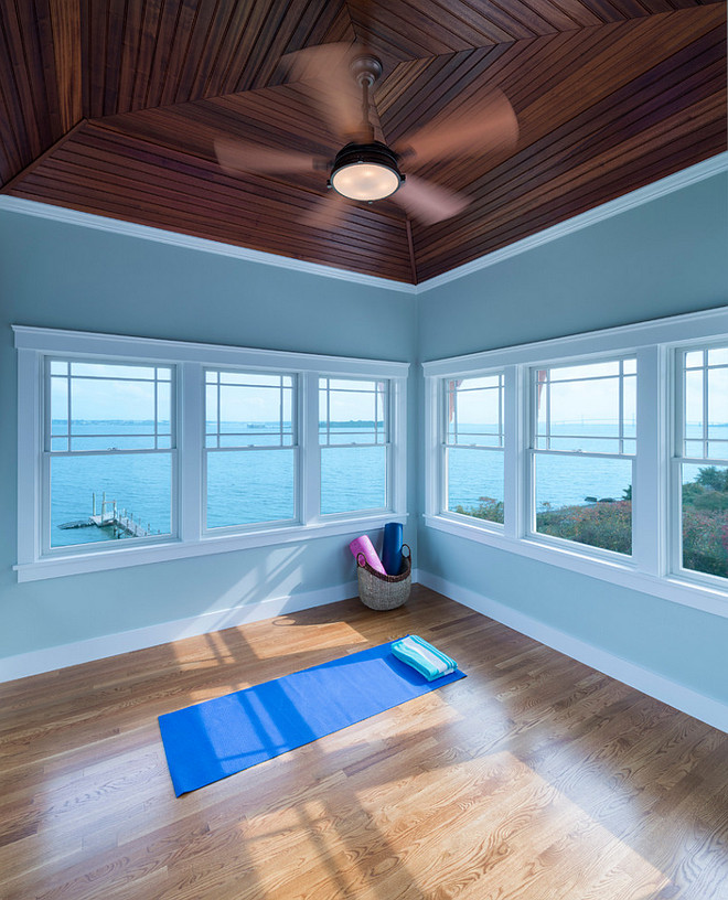 Yoga Room. Yoga Room paint Color. Yoga Room Paint color Ideas. Yoga Room Soothing Paint Color. Yoga Room Relaxing paint Color. #YogaRoom #PaintColor Davitt Design Build, Inc. Nat Rea Photography.