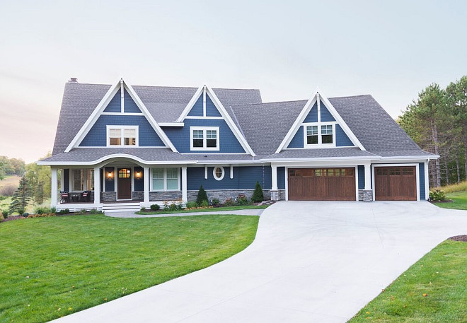 Blue Home Exterior. Blue Exterior Paint Color. Blue Home Exterior. Blue Home Exterior Paint Color Ideas. Blue Home Exterior Paint Color Suggestions #Blue #Home #Exterior #PaintColor Mark D. Williams Custom Homes Inc.