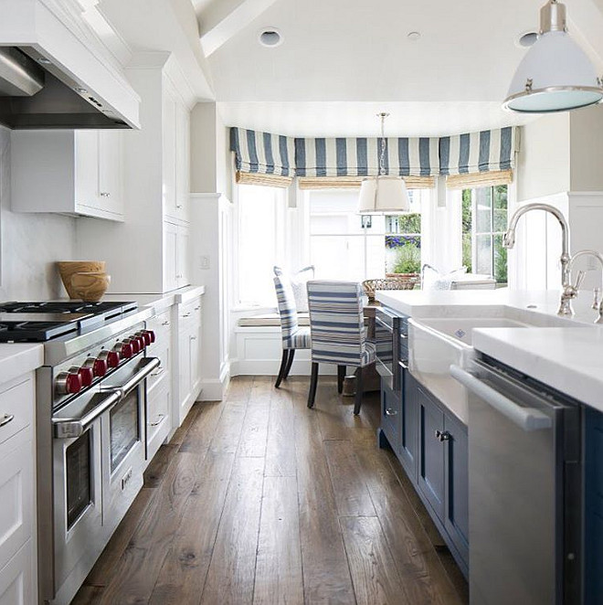 Farrow and Ball Stiffkey Blue. Blue kitchen island paint color. Farrow and Ball Stiffkey Blue. Blue kitchen island. Farrow and Ball Stiffkey Blue #FarrowandBallStiffkeyBlue # Bluekitchenisland #paintcolor Brooke Wagner Design.