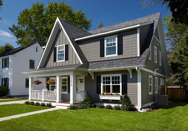 Cape Cod Home Paint Color. Cape Cod Home Exterior Paint Color. Cape Cod Home Exterior Paint Color Ideas. This Gray Cape Cod Home Exterior Paint Color is James Hardie lap siding in the Aged Pewter prefinished color. #CapeCod #PaintColor Anchor Builders.