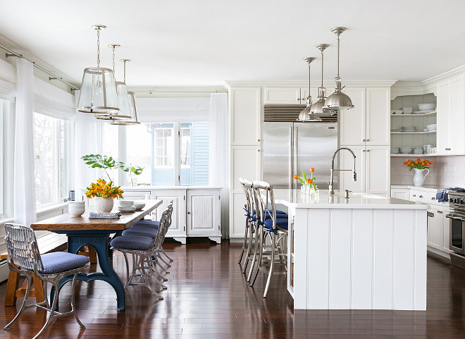 white interior paintBeach House with Subtle Blue and White Interiors  Home Bunch