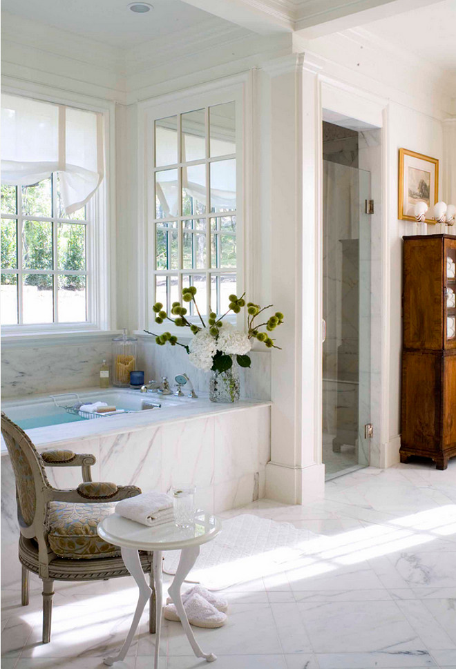 Bath Nook. Bath Nook with window. Cozy Bath Nook ith window and mirror. #BathNook #Bath #Nook Period Homes, Inc.