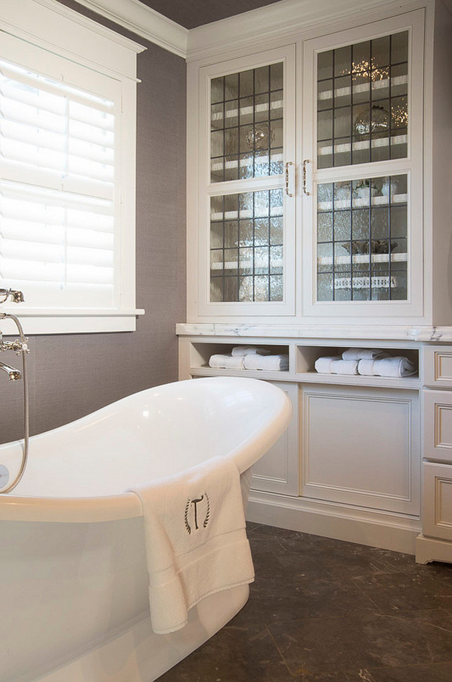 Bathroom Built in towel cabinet. Bathroom Built in towel cabinet ideas. Karr Bick.