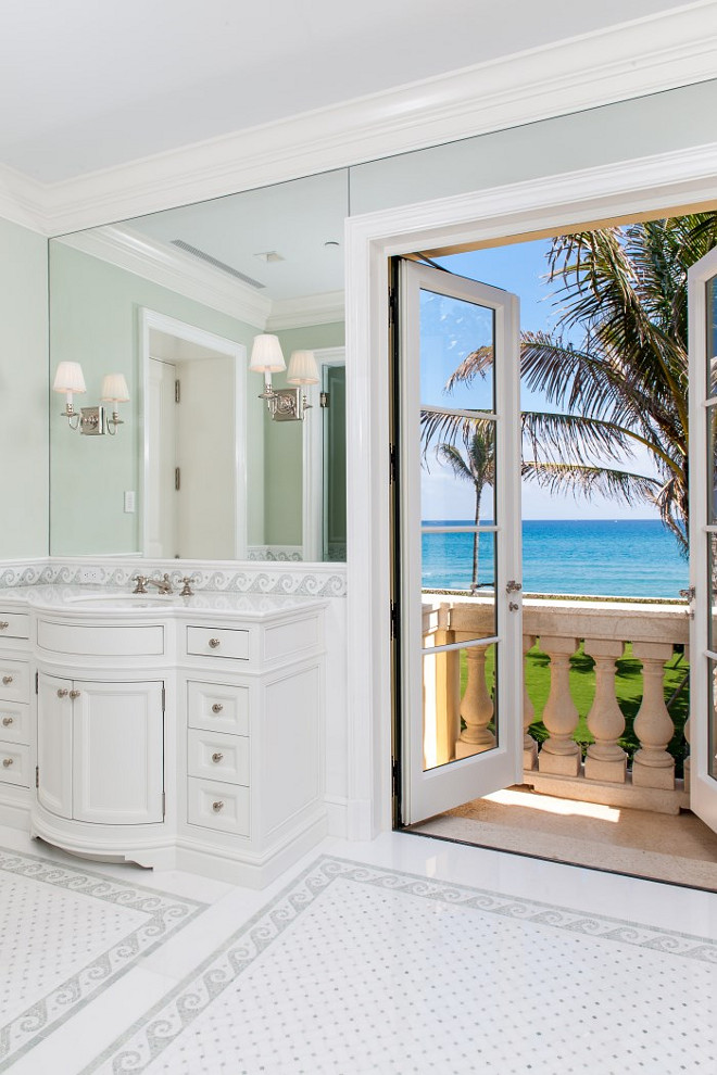 Bathroom Door. Bathroom Door to Balcony. Bathroom Door Ideas. Bathroom Door to Outdoors. Bathroom Door. #Bathroom #Door Sotheby's Homes.