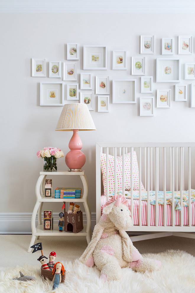 Benjamin Moore Bone White. White Nursery Paint Color. Bone White Benjamin Moore. #BenjaminMooreBoneWhite #BenjaminMoorePaintColors Chango & Co. Photo by Ball & Albanese.