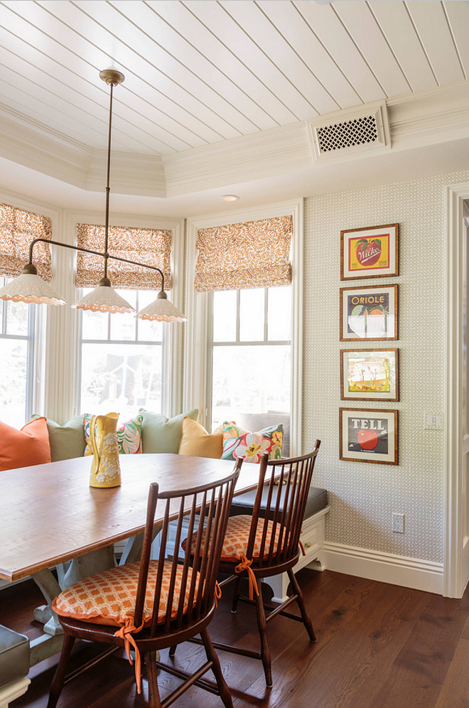 Breakfast Nook Wallpaper. Breakfast Nook Wallpaper Ideas. Breakfast Nook Wallpaper is by Galbraith and Paul. #BreakfastNook #Wallpaper