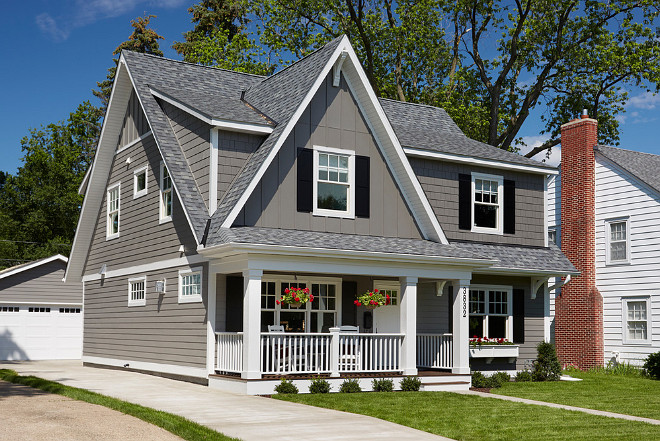 Cape Cod Home Ideas. The gray exterior is James Hardie lap siding in Aged Pewter. Cape Cod Exterior Home Ideas. Cape Cod Exterior Home with Detached Garage. #CapeCod #Exterior #Home Anchor Builders.