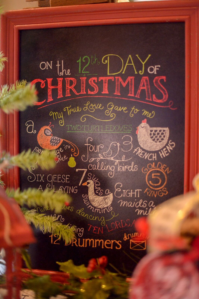 Chrismas Chalkboard Ideas. #ChristmasDecor #Christmas Gatehouse No.1.