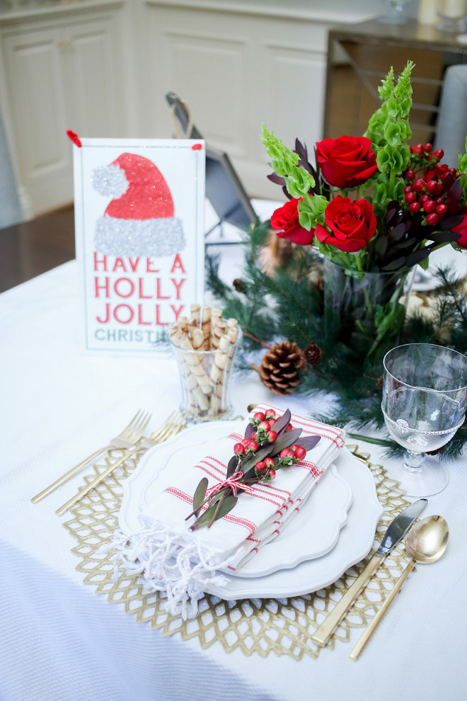 Christmas Table. Table setting Ideas for your Christmas Table. #Christmas #Table #Setting Fashionable Hostess.
