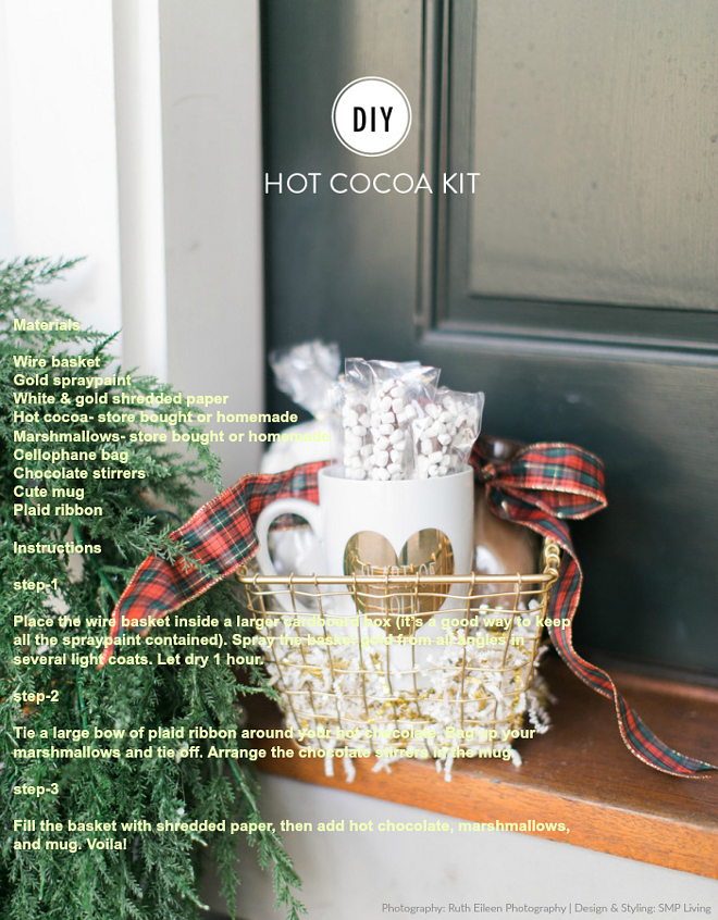 DIY Christmas Gift. DIY Christmas Hot Cocoa Kit. Via SMP Living.