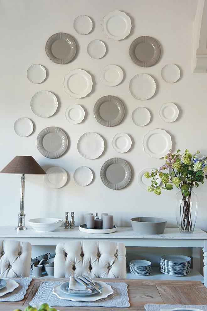 Dining Room Wall Plate Layout. Dining Room Plate Wall Layout. #DiningRoom #Wall #Plate #Layout Sims Hilditch.