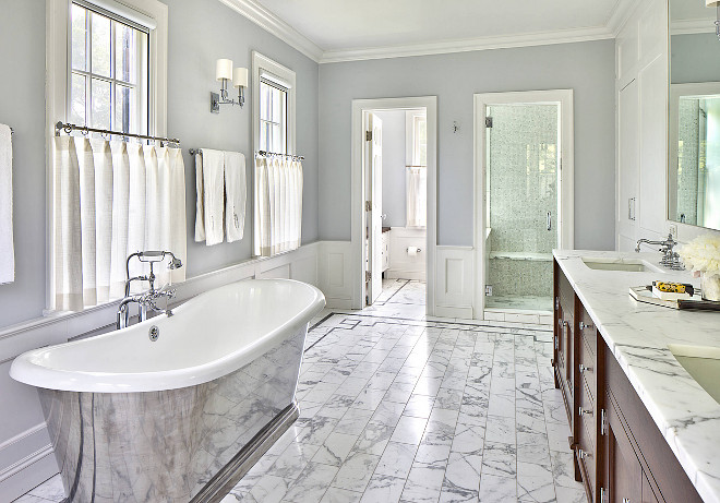 Gray Bathroom. Gray bathroom ideas. Elegant gray bathroom. #Gray #Bathroom Alisberg Parker.