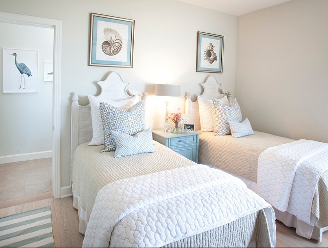 Guest Bedroom. Neutral Guest Bedroom with Twin Beds. #GuestBedroom #NeutralInteriors #TwinBed AGK Design Studio.