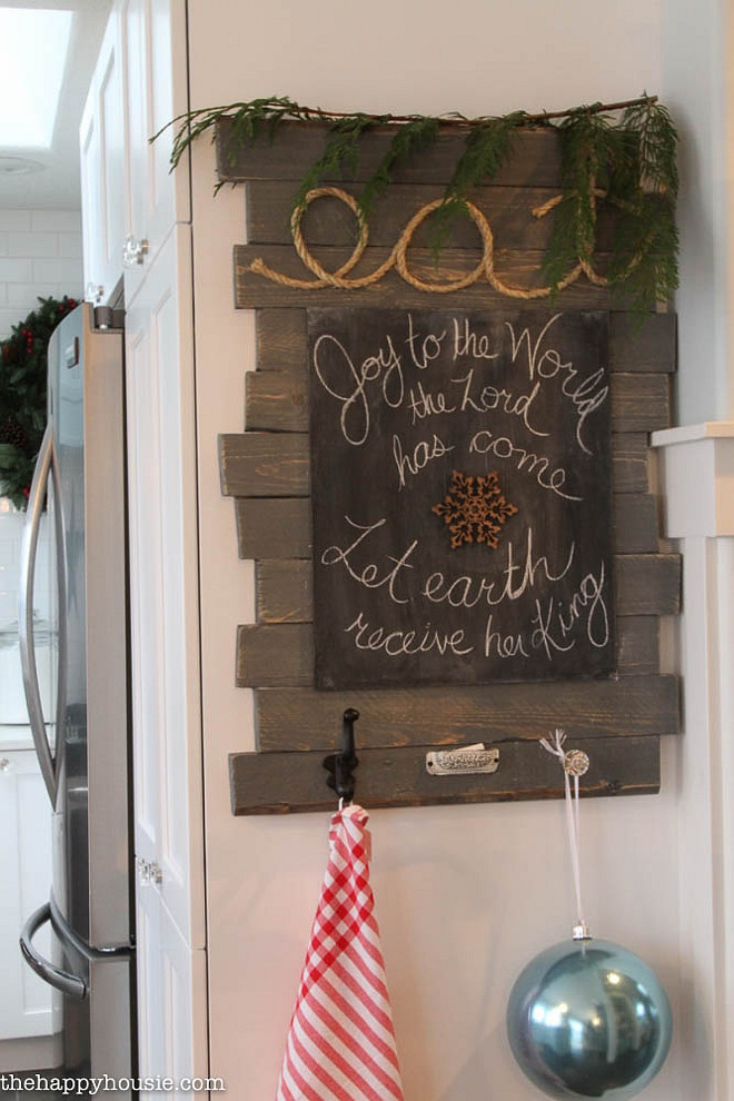 Kitchen - Christmas Chalkboard.  The Happy Housie.