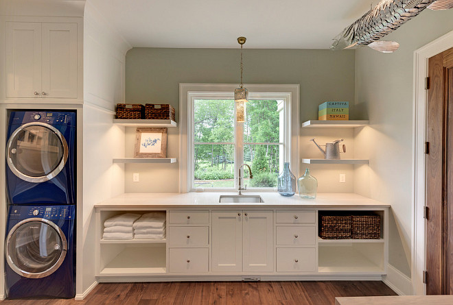 laundry room stacked laundry design ideas and photos stacked laundry design ideas and photos - Laundry Design Ideas