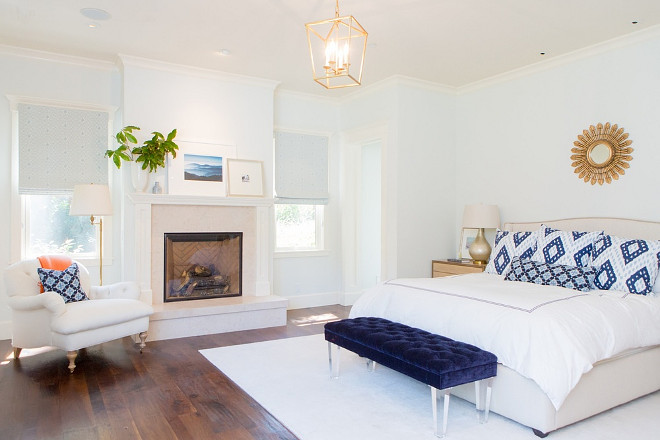 Light Blue Bedroom. Light Blue bedroom paint color. Light Blue bedroom paint color ideas. Benjamin Moore Light Blue bedroom paint color. #Bedroom #LightBlue #PaintColor Braun + Adams Interiors.
