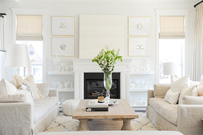 Living room art. #LivingRoom- #GoldFrames #Paintings #SarahSwanson. Living Room- Gold Frames Paintings by Sarah Swanson