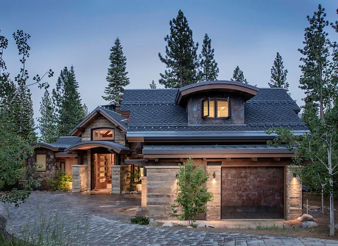 Rustic Ski Home. Rustic Ski Home Exterior. Rustic Ski Home Exterior Ideas. Rustic Ski Home with Garage. #Rustic #Ski #Home #Exterior Kelly & Stone Architects.