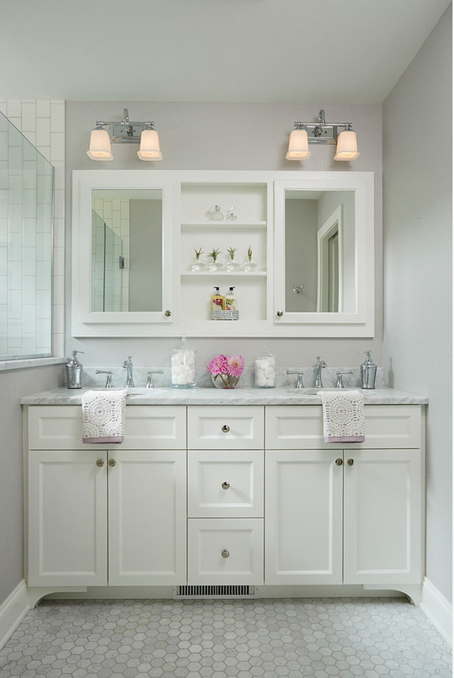 "Top Small Bathroom Pin Small Bathroom. Small bathroom vanity dimensions. Small bathroom vanity dimension ideas. This custom double vanity measures 5' - 8 1/2"" wide. #SmallBathroom #Vanity #Dimensions"