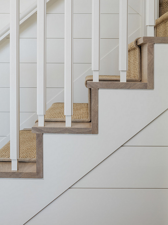 Stairway steps. Stairway sisal runner and hardwood steps. #Staiway #Sisal #Runner #Hardwood #Steps Sophie Metz Design.