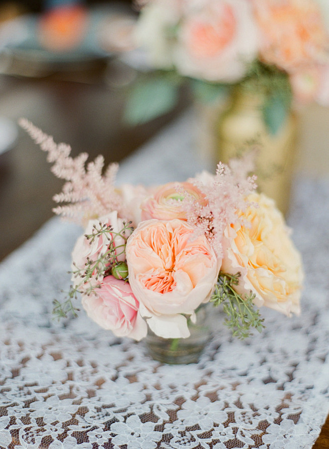 Table Flower Arrangement. Simple Table Flower Arrangement. Table Flower Arrangement Ideas. Romantic Table Flower Arrangement. #Table #Flower #Arrangement Ruth Eileen Photography.