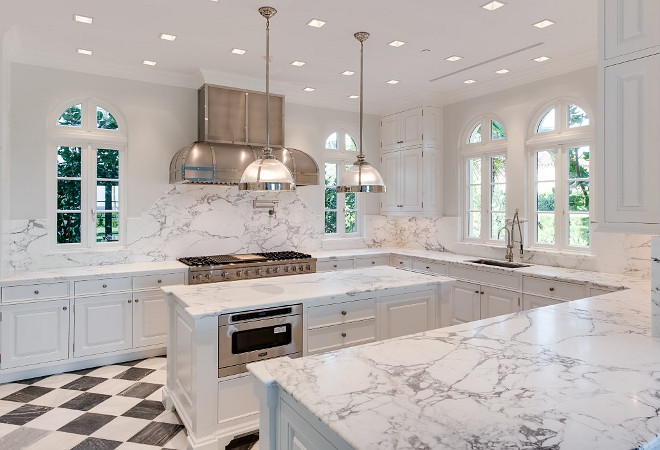 white kitchen tile countertops