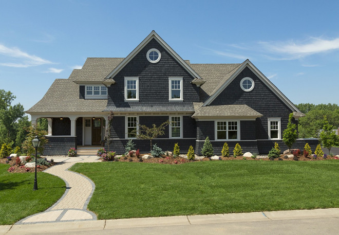 Dark Gray Shingle Home Paint Color. Dark Gray Shingle Home Exterior Paint Color. Dark Gray Shingle Home Exterior Paint Color Ideas. #DarkGray #Shingle #Home #Exterior #PaintColor Spacecrafting Photography.