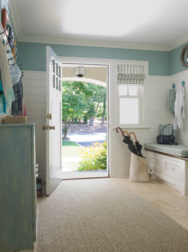 Mudroom shiplap wainscoting. Mudroom shiplap wainscoting height. Mudroom shiplap wainscoting design. Mudroom shiplap wainscoting dimensions. Mudroom shiplap wainscoting #Mudroomshiplapwainscoting #Mudroom #shiplapwainscoting #Mudroomshiplap #wainscoting Dalia Canora Design.
