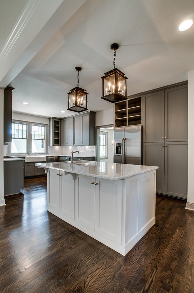 River reflections by Benjamin Moore. Grey kitchen cabinet paint color. River reflections by Benjamin Moore. Grey cabinets painted in River reflections by Benjamin Moore. #RiverreflectionsBenjaminMoore The Kingston Group