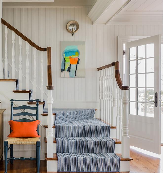 Wool Stair Runner. Wool Stair Runner Ideas. The 100% wool stair runner is Joella by Stark Carpet.  #Wool #Stair #Runner