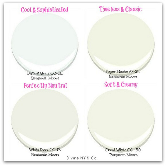 White Paint Color Types Cool Distant Gray Oc 68 Benjamin Moore