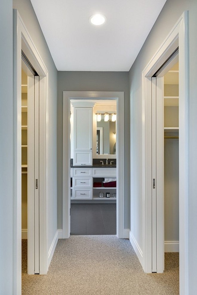 Two story family home layout ideas home bunch interior for Master bath closet layout