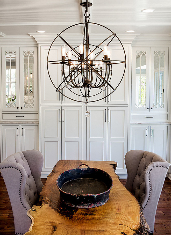 Dining Area Chandelier. Foucaults Twin-Orb Iron Chandelier Restoration Hardware. Dining area chandelier is Foucaults Twin-Orb Iron Chandelier Restoration Hardware. #FoucaultsTwinOrbIronChandelier #RestorationHardwareOrbChandelier #FoucaultsTwinOrbChandelier Karr Bick.