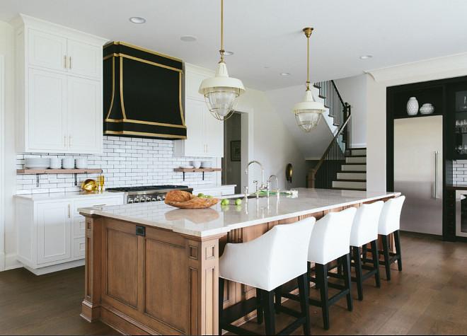 White Kitchen Backsplash With Dark Grout