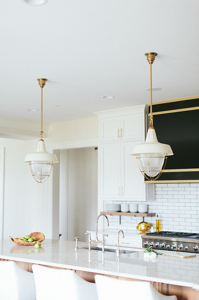 Henry Industrial Hanging Light Pendant. Circa Lighting Henry Industrial Hanging Light Pendant. Thomas O' Brien Henry Industrial Hanging Light Pendant in Hand-Rubbed Antique Brass. #HenryIndustrialHangingLightPendant #HenryIndustrialPendants #HenryIndustrialLighting Kate Marker Interiors.