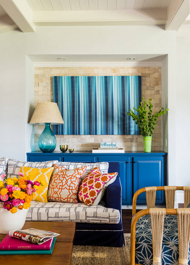 Colorful Interior Ideas. Colorful Interiors. Colorful Coastal Interiors. #ColorfulInteriors Andrew Howard Interior Design.