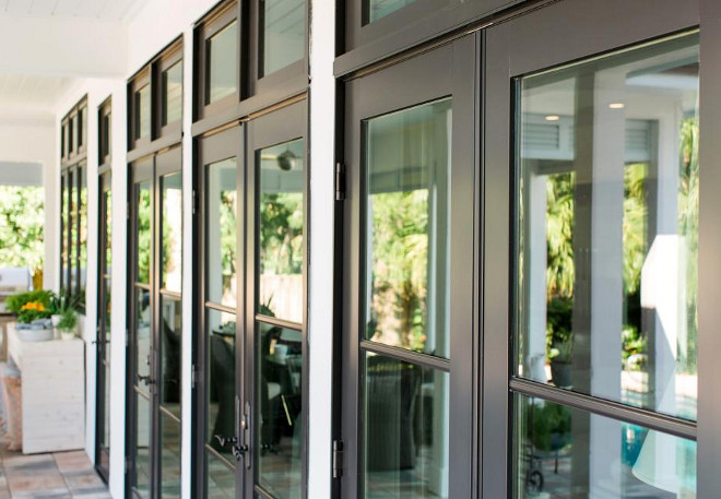 Custom clad-wood patio doors. JELD-WEN Custom clad-wood patio doors