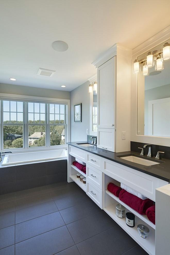 Gray bathroom floor tiles. Gray bathroom floor tiles ideas. Gray bathroom floor tiles #Graybathroomfloortiles Spacecrafting Photography. Carl M. Hansen Companies.