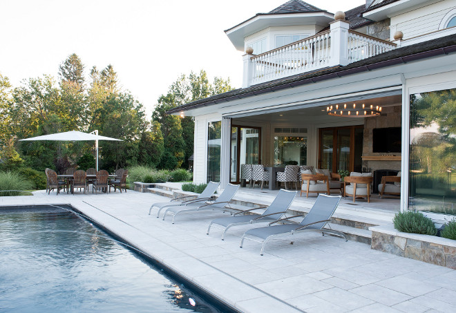 Home opens to pool area. Pool area. #pool #poolarea