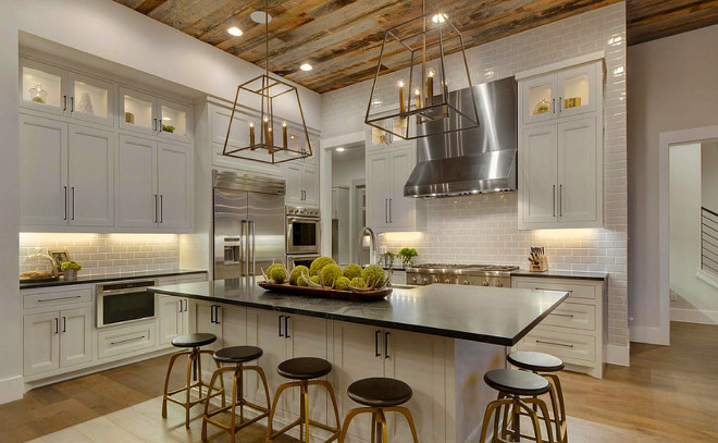 barn wood ceiling ideas - Farmhouse Interior Design Ideas Home Bunch