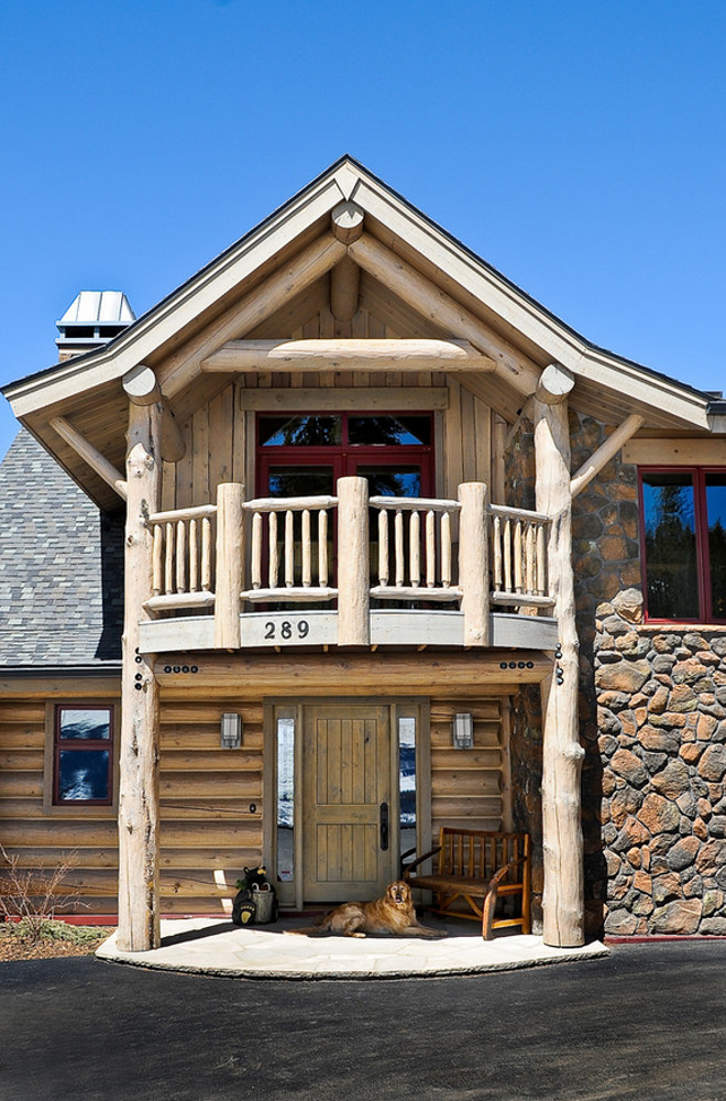 Log Home Front Door. Log Home Front Door Porch. Log Home Front Door Porch Ideas. Log Home Front Door Ideas. #LogHome #FrontDoor Mountain Log Homes of CO, Inc.