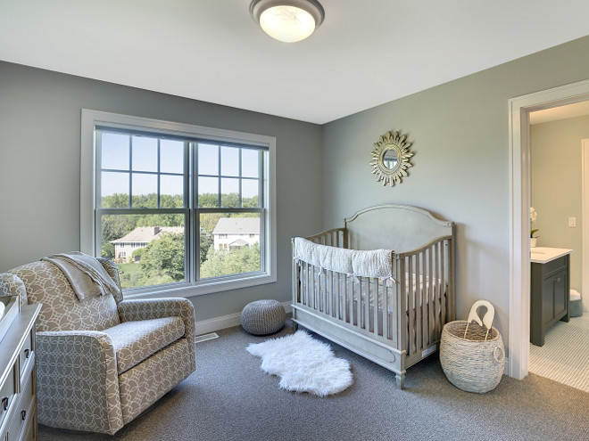 Neutral Nursery. Neutral Nursery Ideas. Neutral Nursery with grays, whites and gold. #NeutralNursery Spacecrafting Photography. Carl M. Hansen Companies.
