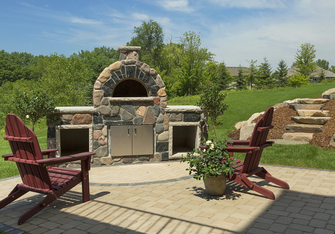 Outdoor Pizza Oven. Outdoor Pizza Oven Ideas. Backyard Outdoor Pizza Oven. #OutdoorPizzaOven #PizzaOven Spacecrafting Photography. Carl M. Hansen Companies.