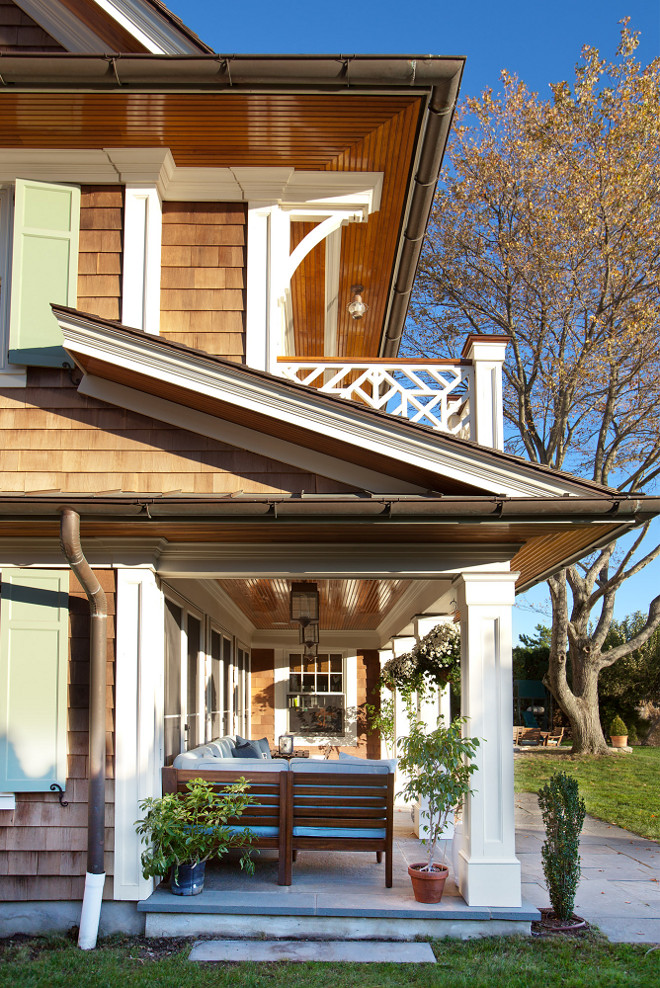 Porch Columns. White Porch Columns. Porch Columns Single Home. Home Porch Columns #Porch #Columns #PorchColumns Peter Cadoux Architects.